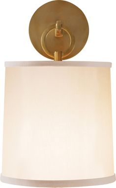 "FRENCH CUFF SCONCE  circalighting.com  Height: 14""  Width: 8""  Extension: 8 3/4""  Backplate: 4 3/4"" Round  Shade: 7 1/2"" x 8"" x 8 1/2"" With Diffuser  Wattage: 1 - 75 Watt Type A  Socket: Keyless"