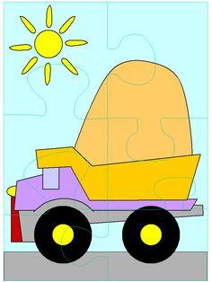 Begeleide of zelfstandige activiteit Infant Activities, Preschool Activities, Primary School, Elementary Schools, Transportation Unit, Puzzle Crafts, File Folder Activities, English Book, Puzzles For Kids