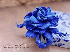 Цветы из кожи Синяя роза браслет Королевский ультрамарин подарок – купить в интернет-магазине на Ярмарке Мастеров с доставкой - F61VFRU