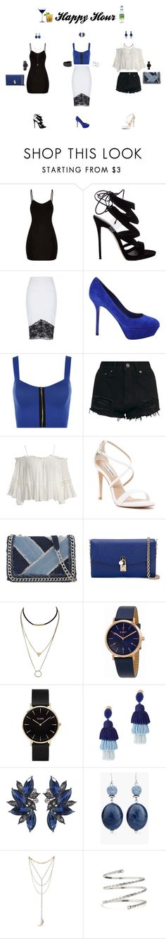 """""""Happy Hour"""" by amalspach ❤ liked on Polyvore featuring Giuseppe Zanotti, Jane Norman, Sergio Rossi, WearAll, Sans Souci, Steve Madden, Tealish, ALDO, Dolce&Gabbana and DKNY"""