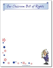 Create a Classroom Bill of Rights for Constitution Day! (Free printable)