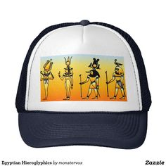 Egyptian Hieroglyphics Trucker Hat #Egyptian #Egypt #Hieroglyphics #Tote #Bag