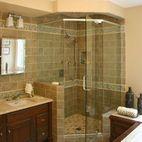 For my master bath, Corner shower