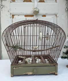 Lovely antique Christmas glass ornaments from my private collection… Antique Christmas, White Christmas, The Caged Bird Sings, Birdcages, Paris Apartments, Glass Christmas Ornaments, Hanging Chair, Shabby Chic, Birds