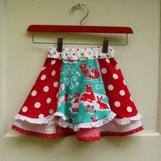 little girls twirl skirt