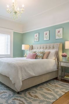 Miss Alice Designs (House of Turquoise) - Home Decor Designs Bedroom Turquoise, House Of Turquoise, Home Bedroom, Bedroom Decor, Bedroom Ideas, Dream Bedroom, Headboard Ideas, Decorating Bedrooms, Bedroom Pictures