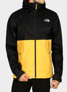 Kurtka z membraną The North Face Millerton Jacket - tnf yellow/black North Face Jacket, Yellow Black, Put On, The North Face, Athletic, Fit, Jackets, Fashion, Down Jackets