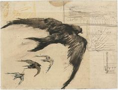 Four Swifts with Landscape Sketches - Vincent van Gogh . Created in Paris in April - September, Located at Van Gogh Museum Vincent Van Gogh, Van Gogh Drawings, Van Gogh Paintings, Van Gogh Museum, Landscape Sketch, Landscape Drawings, Landscape Design, City Landscape, Landscape Illustration