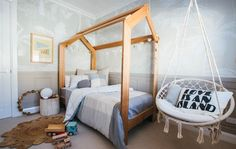 Kyal and Kara's Central Coast Australia home renovation – GetInMyHome Cozy Home Decorating, Decorating Ideas, House Beds For Kids, Kyal And Kara, Fall Bedroom Decor, Bedroom Ideas, Bed Linen Australia, Black Bed Linen, Bed Linen Design
