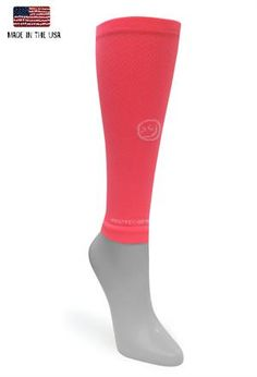Solid coral compression sleeve  www.crazycompression.com #crazyclan #crazycompression