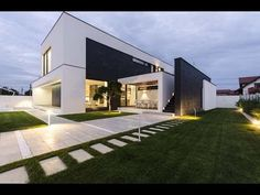 MODERN C HOUSE - MODERN HOUSE DESIGN WITH SIMPLE BLACK AND WHITE COLORS COMBINED WITH AMAZING SHAPE - YouTube