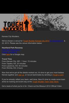 Missouri TOUGH MUDDER/Kansas City Sept. 21 & 22 official event venue. Come get dirty! Tough Mudder, Event Venues, Time Travel, Kansas City, Missouri, Park, Fitness, Parks