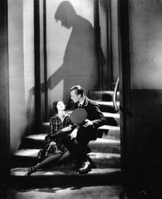 """Norah Baring & Brian Aherne in Anthony Asquith's 1928 film, """"Underground""""."""