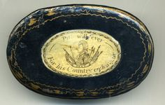William Pitt, toleware snuff box, inscribed Pitt will ever/for his country endeavour; circa 1790.
