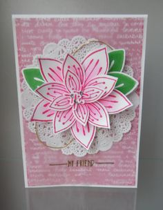 Stampin' Sacha - Stampin' Up! - tutorial nr. 27 Friends & Flowers - Occasions Catalog 2016 - Hello - Sale-A-Bration - heat embossing
