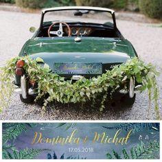 Przepiękna tablica rejestracyjna zgodna z najnowszymi trendami na świecie! Udekoruj samochód ślubny w wyjątkowy sposób i zachwyć gości weselnych!  #kolekcjaslubne #slub #wesele #dekoracjeslubne #podziekowaniadlagosci #botanica Table Decorations, Dark, Wedding, Valentines Day Weddings, Weddings, Marriage, Dinner Table Decorations, Chartreuse Wedding