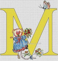 Seraphina Alphabet Letter M Cross Stitch Kit
