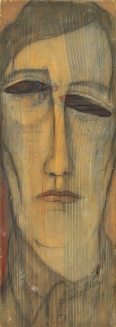 Amedeo Modigliani (It. 1884-1920)  Self-portrait (1919)  Oil on wood (52 x 18.5 cm