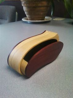 bandsaw box using purple heart and popular wood