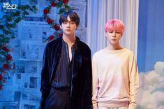 Can you see the difference between taehyung and jimin? Seokjin, Kim Namjoon, Jung Hoseok, Bts Jimin, Bts Bangtan Boy, Bts Taehyung, Vkook Memes, Bts Memes, Foto Bts