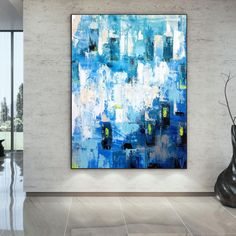 Modern Acrylic Paintings Abstract Wall Art Bathroom Wall image 5 Colorful Artwork, Colorful Paintings, Acrylic Paintings, Office Wall Art, Office Decor, Oversized Wall Art, Bathroom Wall Art, Abstract Canvas Art, Extra Large Wall Art