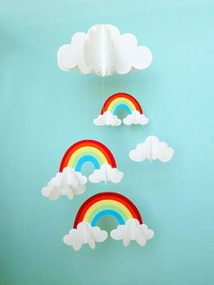 rainbow & cloud mobile