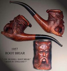 Vercingetorix marketed by Dunhill Smoke Art, Up In Smoke, Tobacco Pipe Smoking, Smoking Pipes, Dunhill Pipes, E Pipe, Cool Pipes, Pipe Rack, Antique Pottery