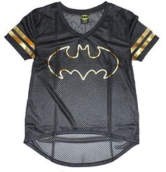 DC Comics Batman Junior Womens' Gold Foil Hi/Lo Mesh V-Neck (XXL) DC Comics http://www.amazon.com/dp/B00W9Q58XM/ref=cm_sw_r_pi_dp_ieuJvb0M7WH1P