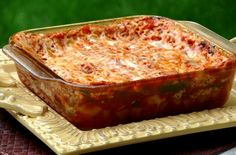 Microwave Lasagna.  Uses no-cook lasagna noodles (who knew that existed?!).  Personally, I'll probably replace the ricotta with feta