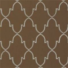 Wallpaper - Thibaut Filigree - Julian - Wallpaper - Metallic on Brown - thibaut, filigree, metallic, brown, wallpaper