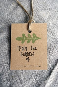 5 handmade Garden Labels. Love the idea for other items offered at show.