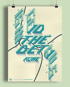 Computer Graphics Isometric Typography.
