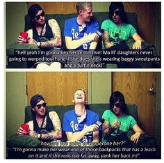 Sleeping With Sirens lol Kellin is so cute about Copeland