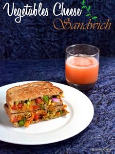 Vegetable & Cheese Sandwich    http://indiankhanna.blogspot.sg/2013/03/vegetables-cheese-sandwich-recipe.html