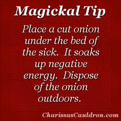 Magickal Tip - Onions for Soaking Up the Negative – Charissa's Cauldron