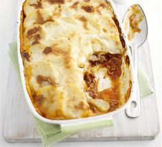 A classic combination of flavours for a comforting family meal, with just five ingredients, from BBC Good Food magazine. Lamb Recipes, Dinner Recipes, Savoury Recipes, Meat Recipes, Bbc Good Food Recipes, Cooking Recipes, Cheese And Potato Pie, Potato And Pea Curry, Potato Toppings