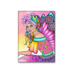 """ACEO 2.5"""" x 3.5"""" colored pencil, watercolor  and ink o board by B. K. Lusk"""