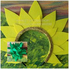 AGES Customizable Sunflower Headband And Cuffs Halloween Costume Birthday Party Birthday Outfit Garden Flower Toddler Teen Adult Unisex - Kids costumes Alice Halloween, Holidays Halloween, Diy Costumes, Halloween Costumes, Halloween Headband, Carnaval Kids, Diy Flowers, Paper Flowers, Costume Fleur
