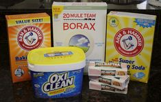 Home made laundry detergent with baking soda and oxy clean added.