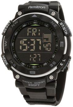 Amazon.com: Armitron Sport Men's 40/8254BLK Black Digital Chronograph Watch: Watches