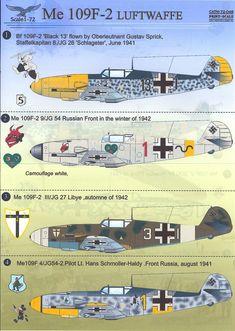 $8.5 - Print Scale Decals 1/72 Messerschmitt Bf-109F-2 German Fighter #ebay #Collectibles