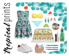 """""""Contest ~ Tropical Prints ~"""" by celia-fangirl-fr ❤ liked on Polyvore featuring Melissa Odabash, Superdry, Temperley London, adidas Originals, France Luxe, Accessorize, Kate Spade, Urban Decay, Benefit and NYX"""