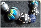 Ollivine Z Creations: Polymer clay tutorial: dotted beads