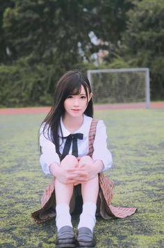Japanese School Uniform Girl, School Girl Japan, School Girl Dress, Japan Girl, Beautiful Japanese Girl, Beautiful Girl Image, Beautiful Asian Women, Asian Cute, Cute Asian Girls