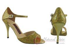 Natural Spin Tango Salsa Shoes/Tango Shoes/Fashion Shoes(Open Toe):  T1102-T11_G