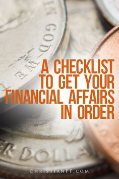 A checklist to get your financial affairs in order