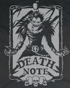 Death Note Yagami Light shinigami Ryuk Shirt T-shirt tee Tshirt