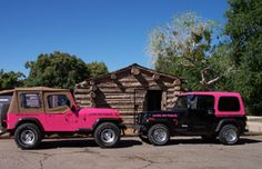 black jeep wrangler, pink writing please :) ...but in all honesty, I'd take either haha