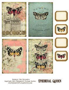 Ephemera's Vintage Garden: Free Printable - 'Ephemeral Garden' Journaling Cards…