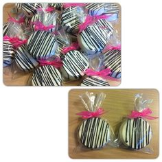 Zebra Print White Chocolate Covered Oreos by A Little Serendipity! :)